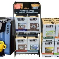 Maud's Righteous Blends Gourmet Variety Recyclable Coffee Pods 192ct + Coffee Brewer + Rack