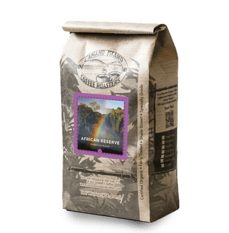 Camano Island Coffee Roasters Organic African Whole Bean Medium Roast Coffee 16oz