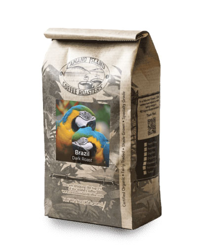 Camano Island Coffee Roasters Organic Brazil Whole Bean Dark Roast Coffee 16oz