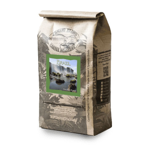 Camano Island Coffee Roasters Organic Brazil Whole Bean Medium Roast Coffee 16oz