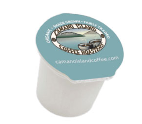 Camano Island Coffee Roasters Organic Dark Roast Recyclable Coffee Pods 32ct