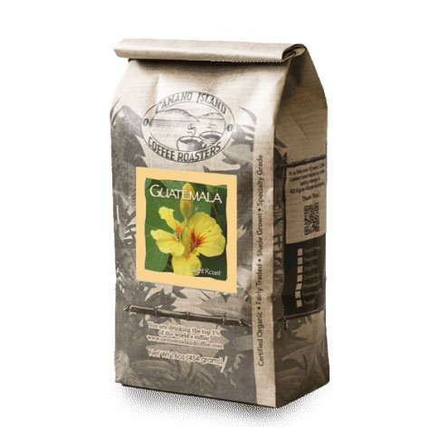 Camano Island Coffee Roasters Organic Guatemala Whole Bean Light Roast Coffee 16oz
