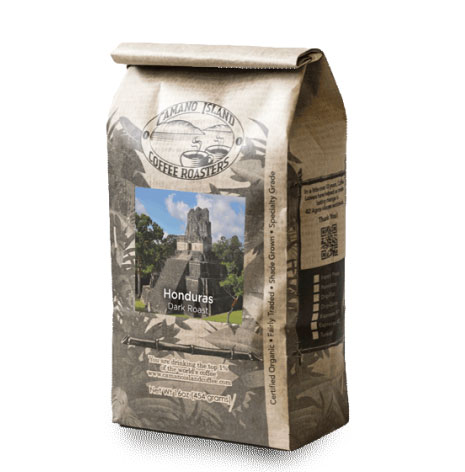Camano Island Coffee Roasters Organic Honduras Blend Whole Bean Dark Roast Coffee 16oz