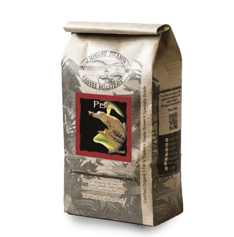 Camano Island Coffee Roasters Organic Peru Blend Whole Bean Dark Roast Coffee 16oz