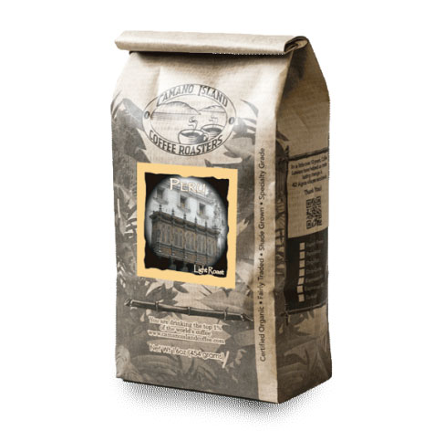 Camano Island Coffee Roasters Organic Peru Whole Bean Light Roast Coffee 16oz