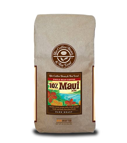 Coffee Bean and Tea Leaf 10% Maui Blend Whole Bean Dark Roast 20oz