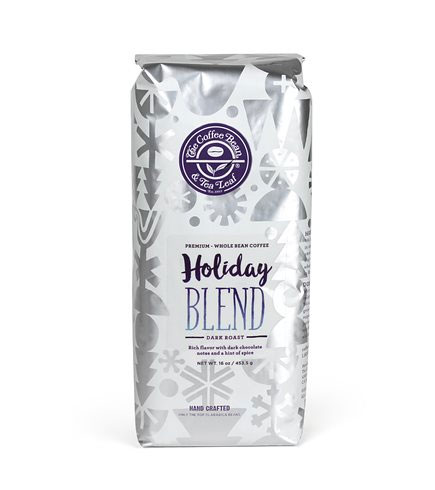 Coffee Bean and Tea Leaf Holiday Blend Whole Bean Coffee Dark Roast 16oz
