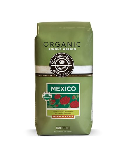 Coffee Bean and Tea Leaf Organic Mexico Whole Bean Medium Roast 12oz