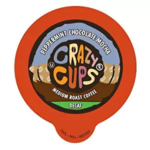 Crazy Cups Decaf Peppermint Chocolate Mocha Medium Roast K cups®  22ct