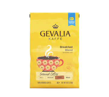 Gevalia Breakfast Blend Regular Ground Dark Roast Coffee 8oz