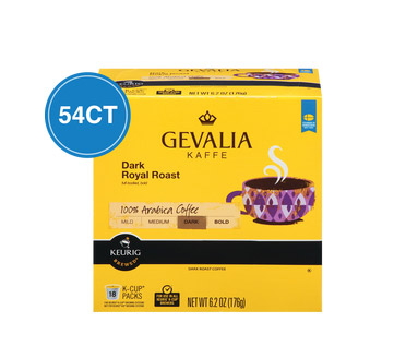 Gevalia Dark Royal Dark Roast Kcups 54ct