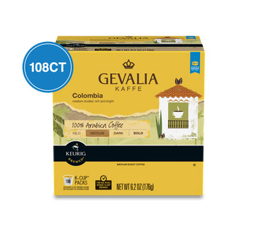 Gevalia Colombia Medium Roast K cups®  108ct