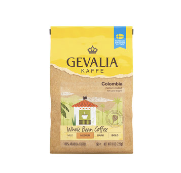 Gevalia Colombia Regular Whole Bean Medium Roast Coffee 8oz