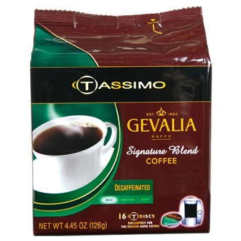 Gevalia Decaf Signature Blend Medium Roast Tassimo T-Discs 16ct