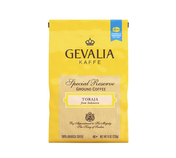 Gevalia Toraja Regular Ground Dark Roast Coffee 8oz