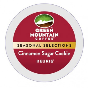 Fair Trade Seasonal K-Cups - Green Mountain Coffee Cinnamon Sugar Cookie Light Roast Seasonal K cups® 24ct