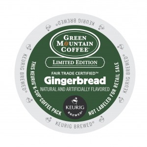 Green Mountain Coffee Fair Trade Gingerbread Light Roast Seasonal K cups® 96ct