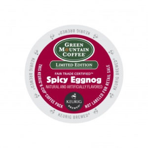 Fair Trade Seasonal K Cups Green Mountain Coffee Spicy Eggnog Light Roast K cups® 96ct