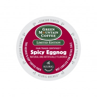 Green Mountain Coffee Spicy Eggnog Light Roast K cups®  96ct