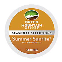 Fair Trade Seasonal K Cups Green Mountain Coffee Summer Sunrise Blend Light Roast K cups® 24ct