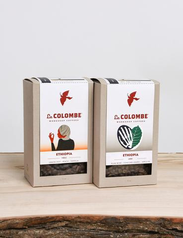 La Colombe Ethiopia Pack Adri and YirgZ Variety Pack Whole Bean Coffee 24oz