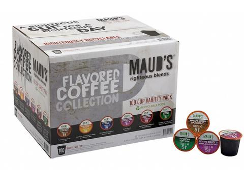 Maud's Righteous Blends Flavored Coffee Collection Variety Recyclable Coffee Pods 100ct