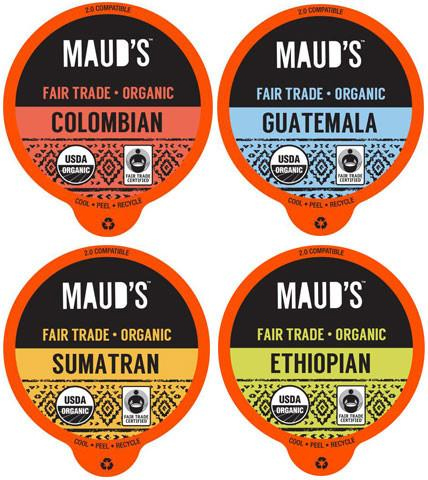 Maud's Righteous Blends Organic Variety Recyclable Coffee Pods 96ct - Maud's Coffee