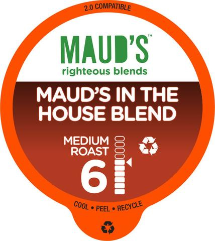 Maud's Righteous Blends House Blend Medium Roast Recyclable Coffee Pods 100ct