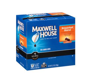 Maxwell House Breakfast Blend Light Roast K cups®  18ct