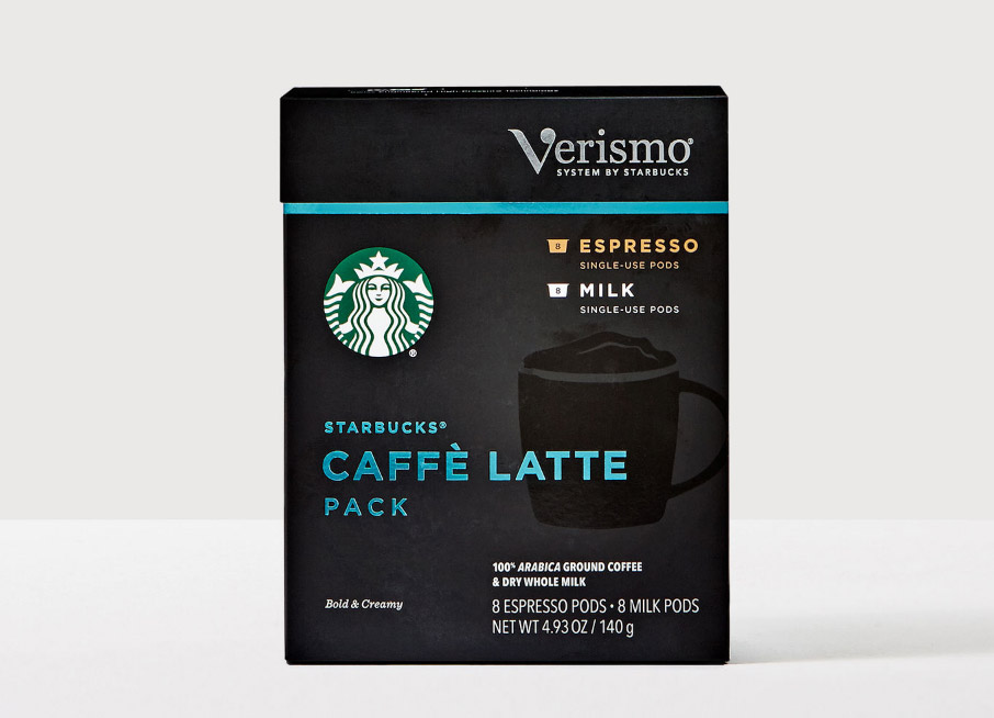 Starbucks Caffè Latte Dark Roast Verismo Pods 128ct