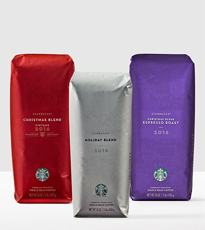 Starbucks Holiday Coffee Collection Variety Whole Bean Coffee 48oz