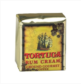 Tortuga Rum Cream Ground Light Roast Coffee 16oz