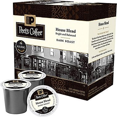 Peet's Coffee House Blend Dark Roast Keurig K cups®  16ct