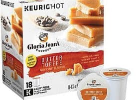 Gloria Jean's Butter Toffee Medium Roast K cups®  18ct