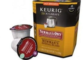 Newman's Own Organic Special Blend Medium Roast K-Carafe Pods 8ct