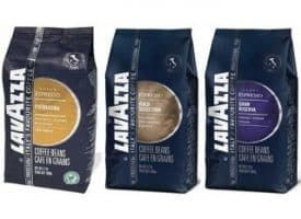 Lavazza Whole Bean Coffee Sampler Premium Blends - Three 2.2lb bags