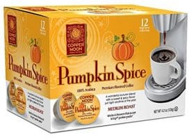 Copper Moon Pumpkin Spice Medium Roast Single Cups Aroma Cups 12ct