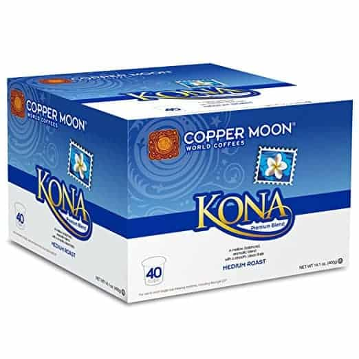 Copper Moon Kona Blend Medium Roast Single Cups Aroma Cups 40ct
