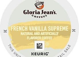 Gloria Jean's French Vanilla Supreme Medium Roast K cups® 96ct