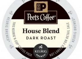 Peet's Coffee House Blend Dark Roast Keurig K cups®  22ct