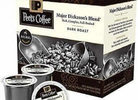 Peet's Coffee Major Dickason's Dark Roast Keurig K cups®  22ct