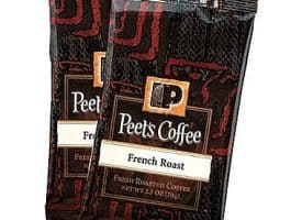 Peet's Coffee French Roast Ground Dark Roast Coffee Portion Packs 2.5oz 18 Packs