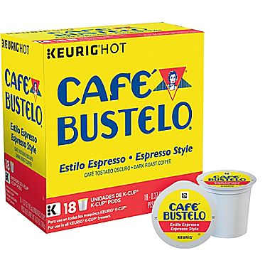 Cafe Bustelo Espresso Dark Roast K cups®  18ct