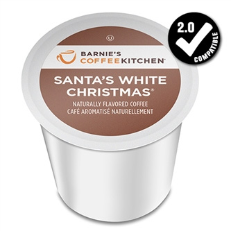 Barnie's Coffee Kitchen Santa's White Christmas Medium Roast K cups®  24ct