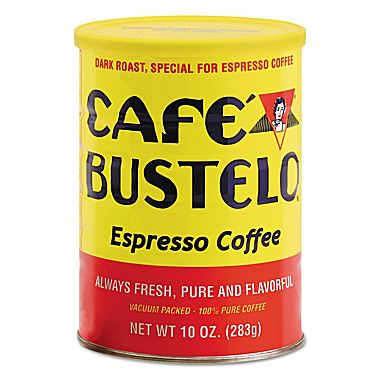 Cafe Bustelo Espresso Ground Dark Roast Coffee 10oz - 24 Carton