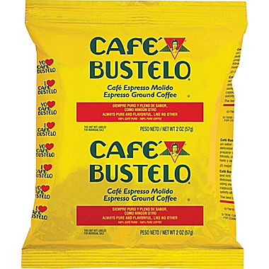 Cafe Bustelo Espresso Ground Dark Roast Coffee Fraction Packs 2oz - 30 Count