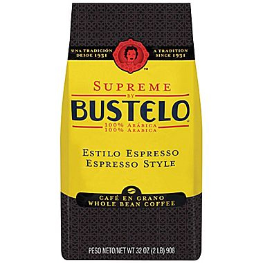 Cafe Bustelo Espresso Whole Bean Dark Roast Coffee 32oz