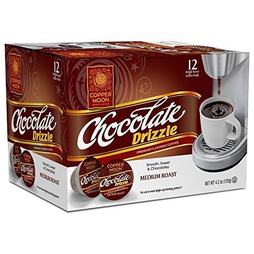 Copper Moon Chocolate Drizzle Medium Roast Single Cups Aroma Cups 12ct