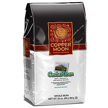 Copper Moon Costa Rican Whole Bean Medium Roast Coffee 32oz