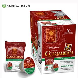 Copper Moon Decaf Colombian Medium Roast Single Cups 20ct